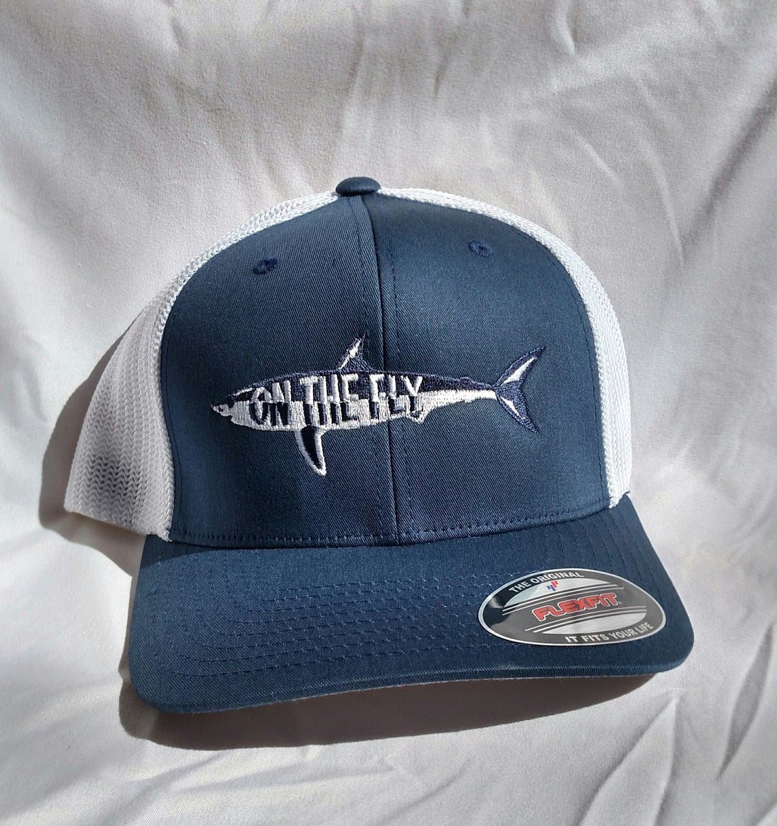 On the fly fishing charters hats for Fishing flat bill hats