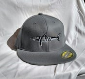Image of Grey Flat bill flex fit hat