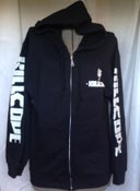 Image of KC ZIP FRONT HOODED SWEATSHIRT