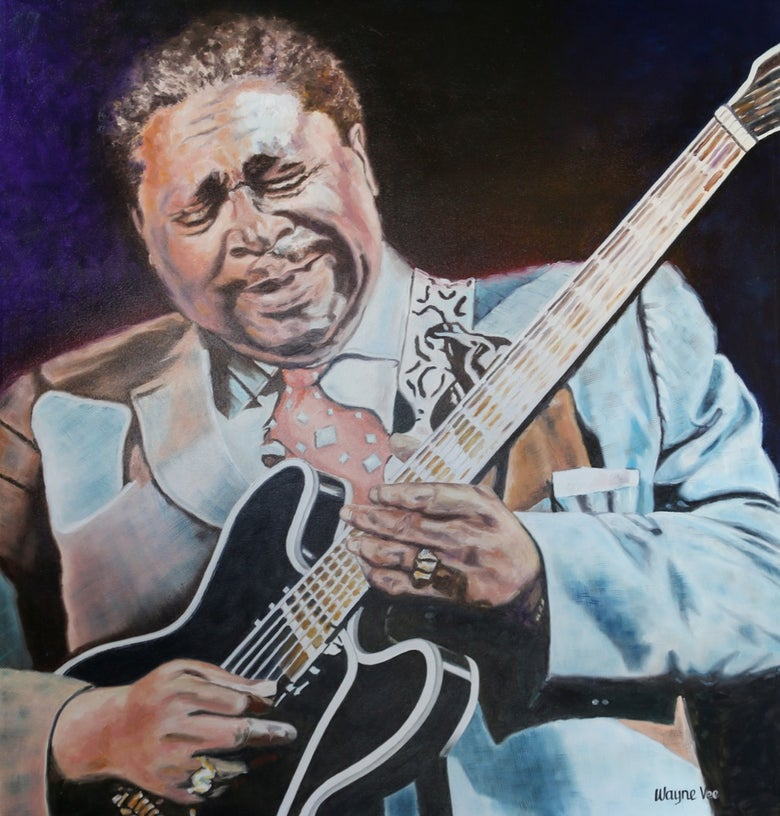 Image of B.B. King • Original Oil Painting©