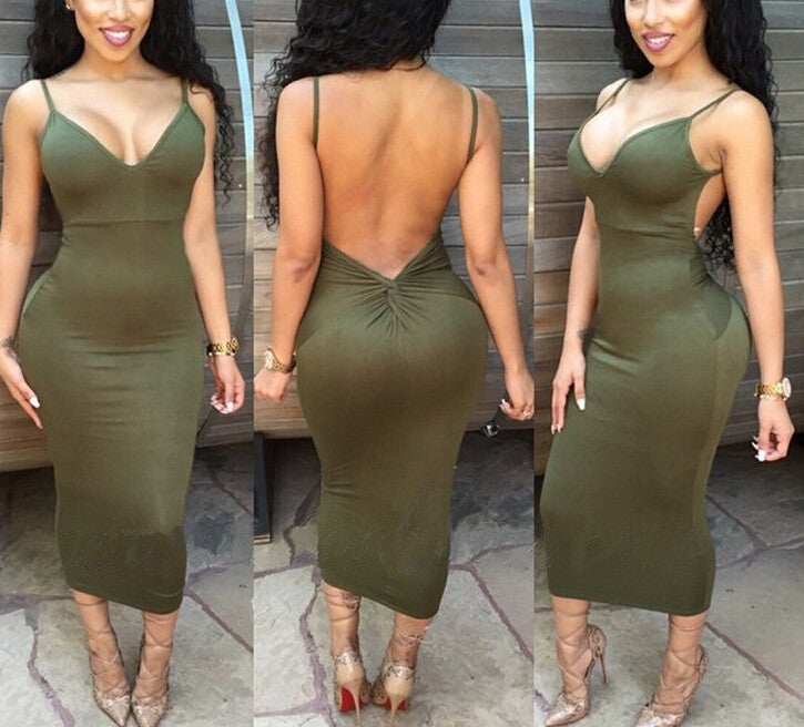 Image of CUTE DEEP V SEXY TWIST DRESS