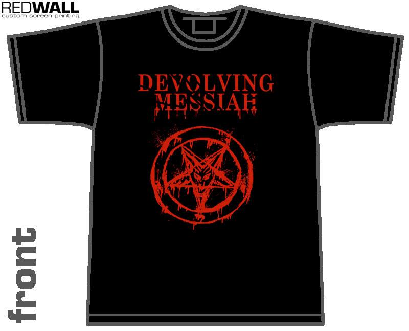 Image of Devolving Messiah pentagram T-shirt