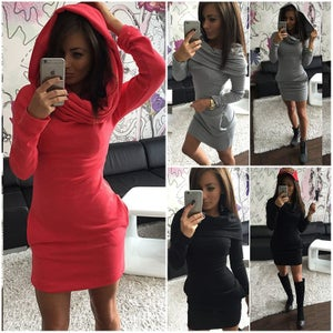 Image of HOT CUTE SWEATER COATS DRESS THREE WAYS WEAR