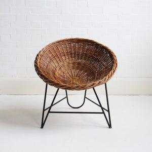 Image of german wicker basket/chair