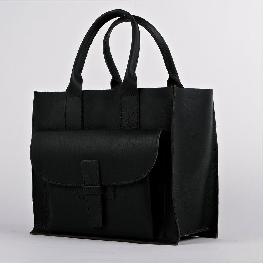 Image of Sac 2 Navy Leather | Sac 2 Black Buffalo