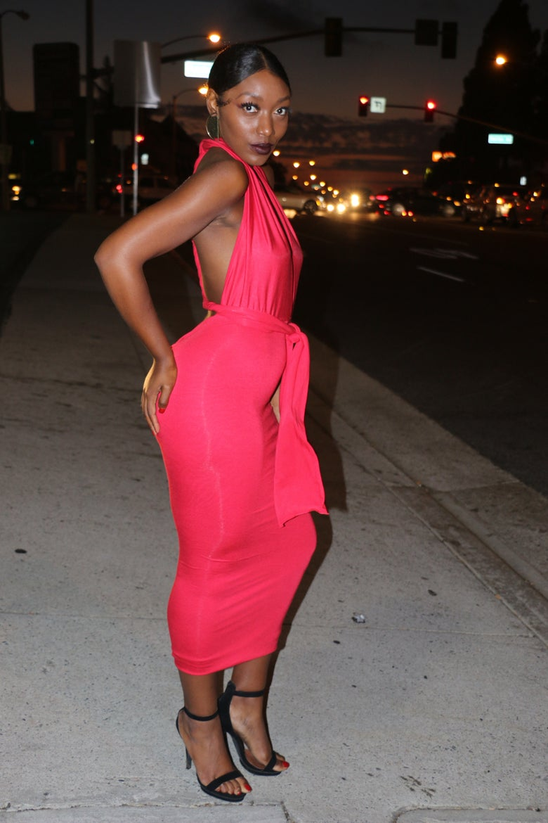 Image of Philthy Ragz Red Magic Wrap Dress Pre Order