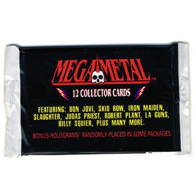 "Image of ""MEGA METAL"" HEAVY METAL BANDS TRADING CARDS"