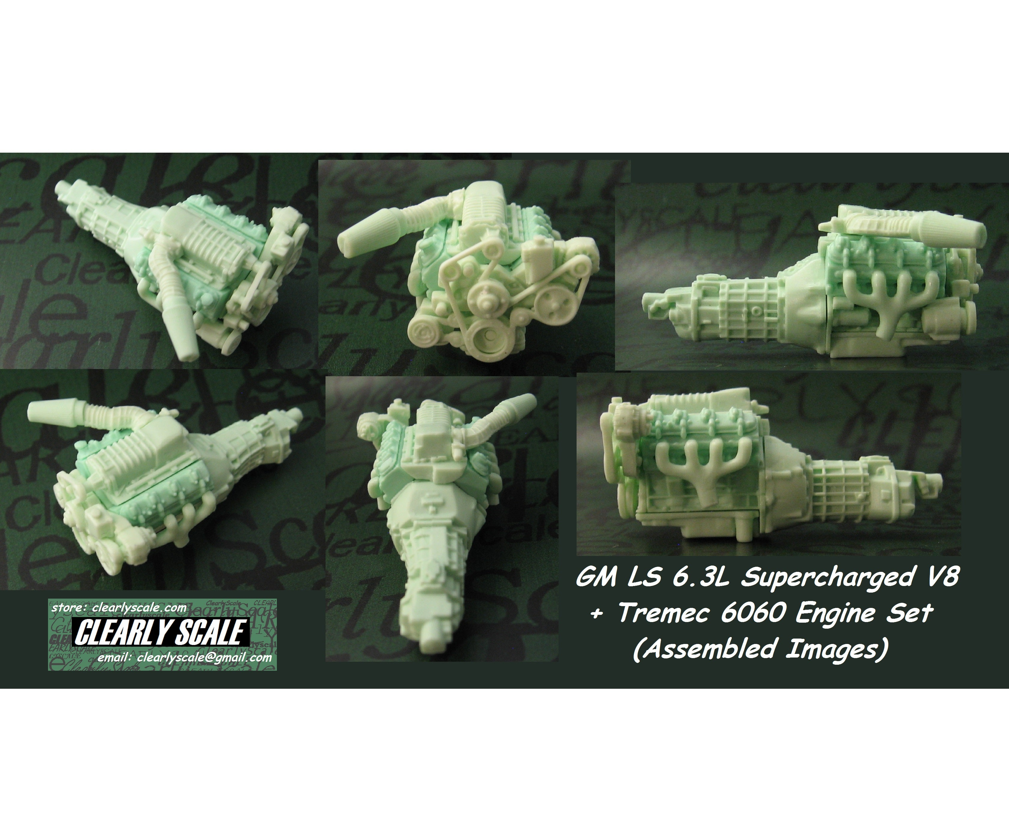 Gm Ls Engines >> CLEARLY SCALE — GM LS3 Supercharged V8 + Tremec 6060 ...