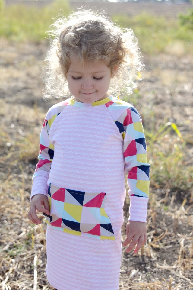 Image of the RECESS raglan knit tee PDF Pattern 18M to 8
