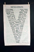 Image of Vegetarian 'Inspiration' Tea Towel