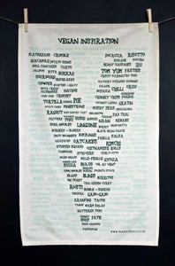 Image of Vegan 'Inspiration' Tea Towel