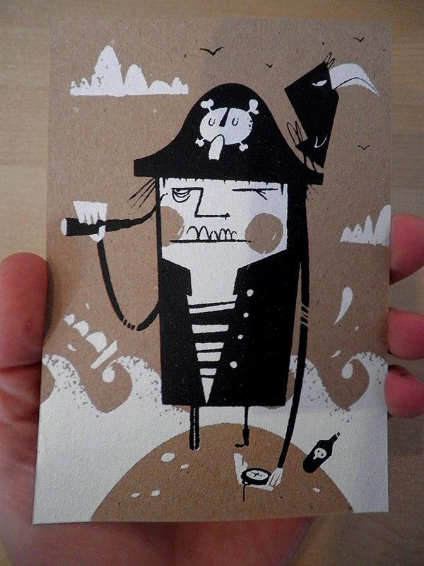 Image of Pirate Peg Postcard