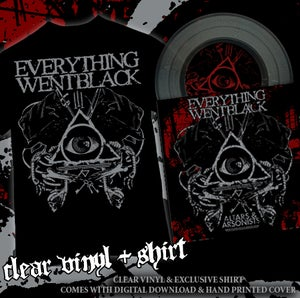 Image of EVERYTHING WENT BLACK T SHIRT + CLEAR VINYL