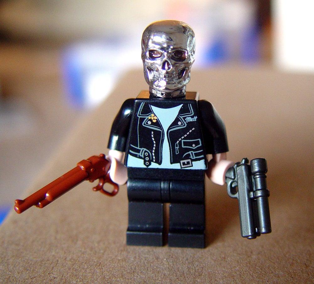Image of Cyborg Assassin Custom Minifig - ON SALE!