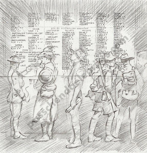 Image of Australian Ghost Soldiers at the Menin Gate