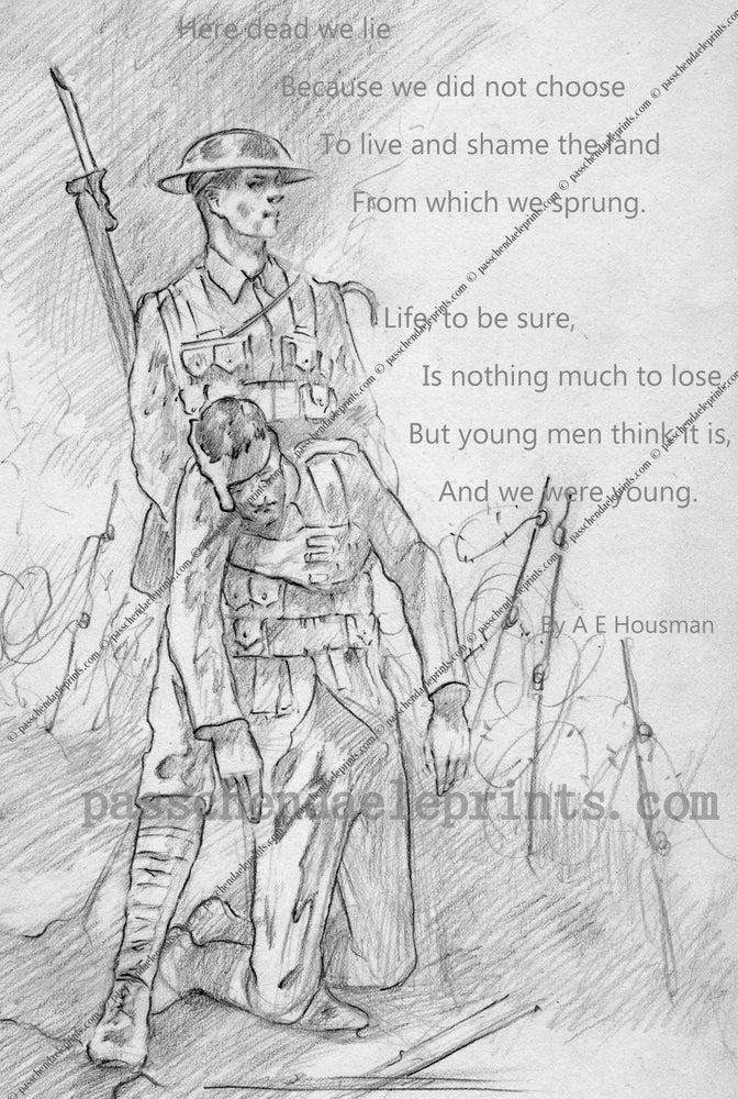 Image of A.E. Housman's poignant poem....