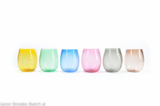 Image of Rainbow stemless Wine Glasses
