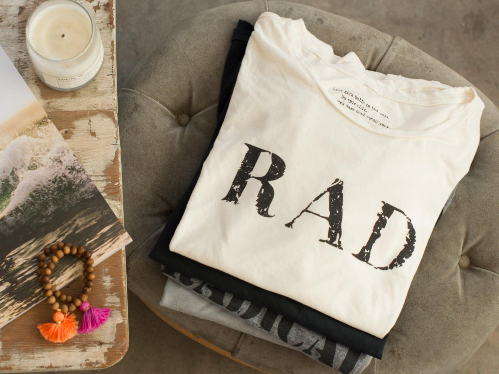 Image of Distressed Tees - Rad & No Regrets