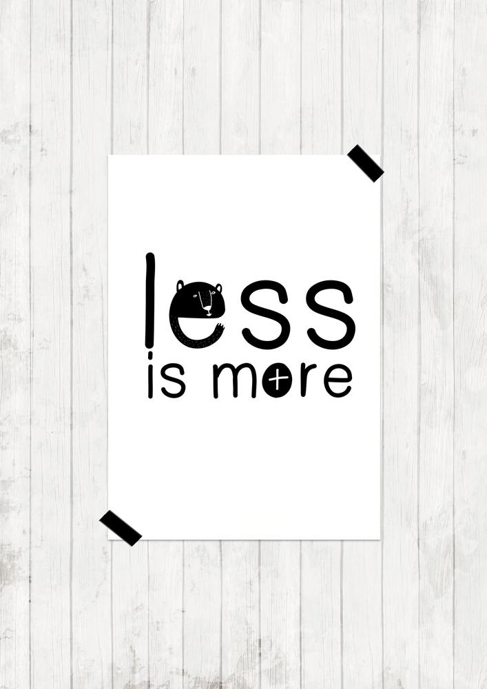 "Image of Lámina ""Less is more"""