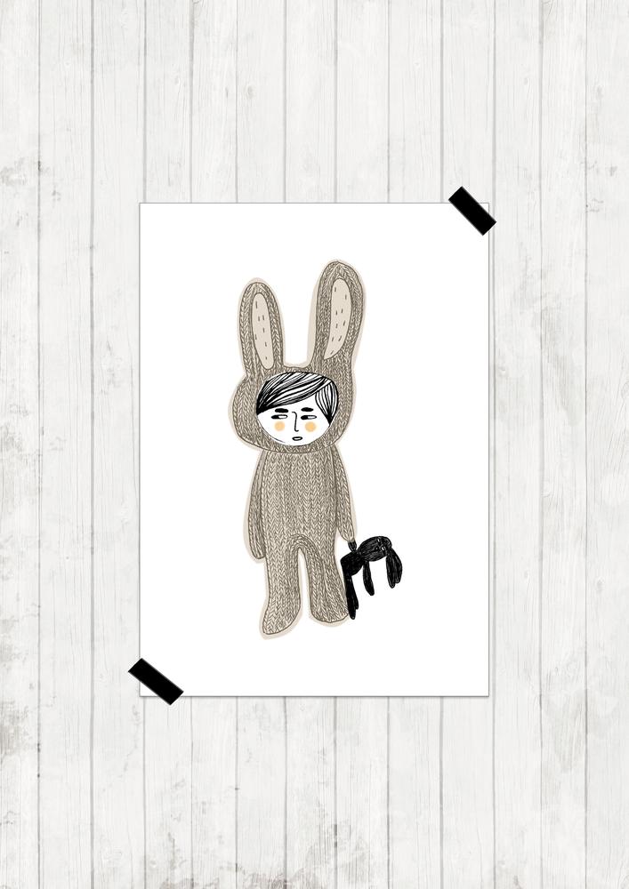 "Image of Lámina ""Rabbit&Rabbit"""