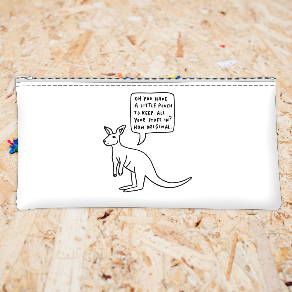 Image of Sarcastic Kangaroo Pencil Case