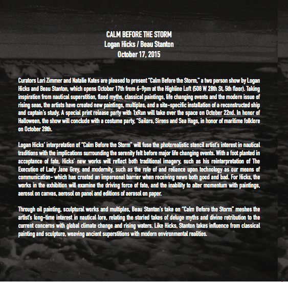 Image of LuvJonez x Logan Hicks x Calm Before the Storm soundtrack