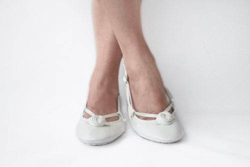 Image of Ballet Flats Foldable - Ivory Alert - Wedding shoes