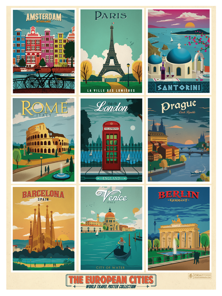 Image of European Multi-Cities Poster