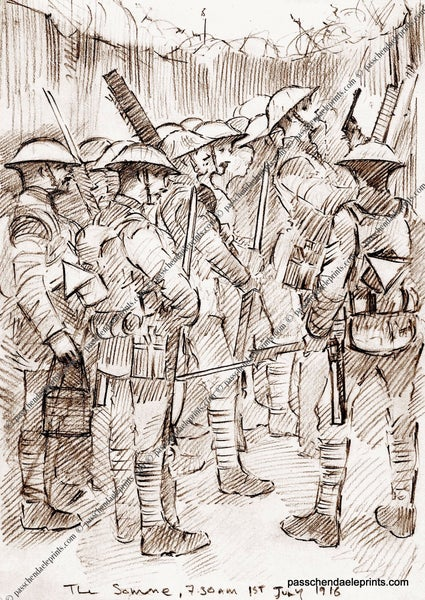 Image of Waiting for the whistle ~ The Somme 1916 SEPIA