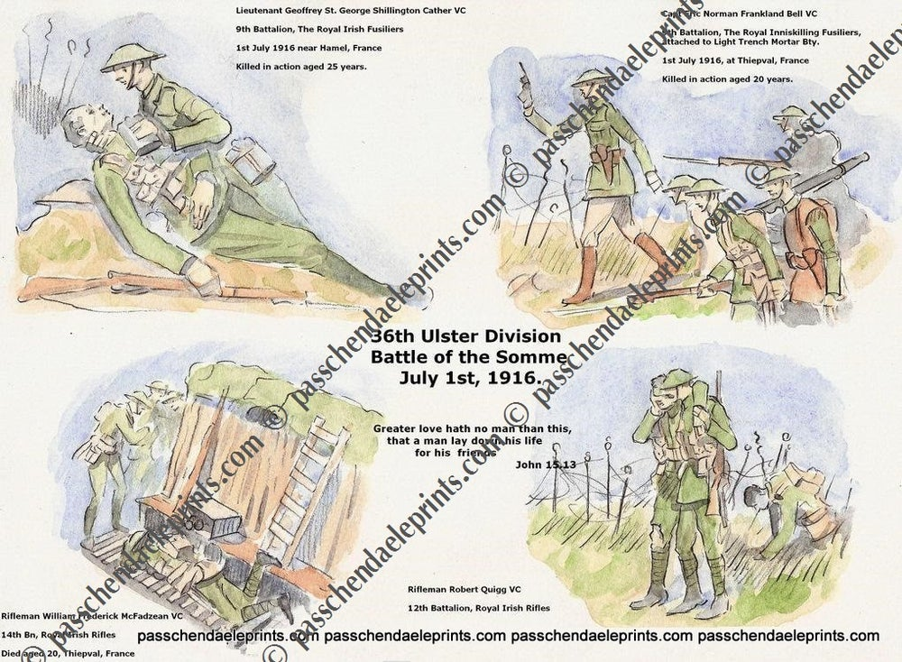 Image of 36TH ULSTER DIVISION VC'S 1ST  JULY 1916