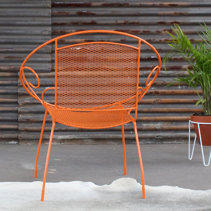 Image of Vintage Outdoor chair in Orange