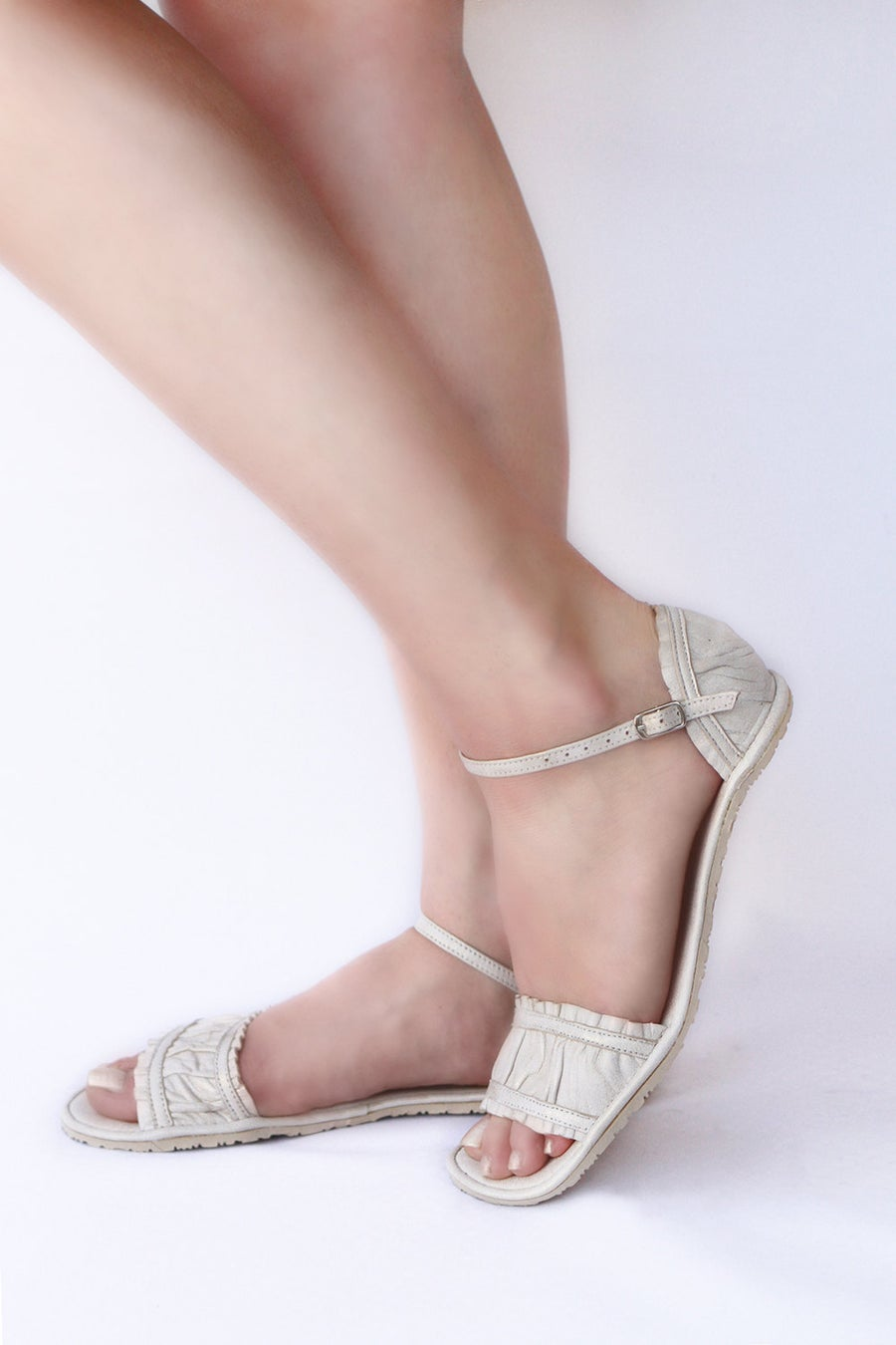 Image of Furbelow Sandals - in Golden sheer