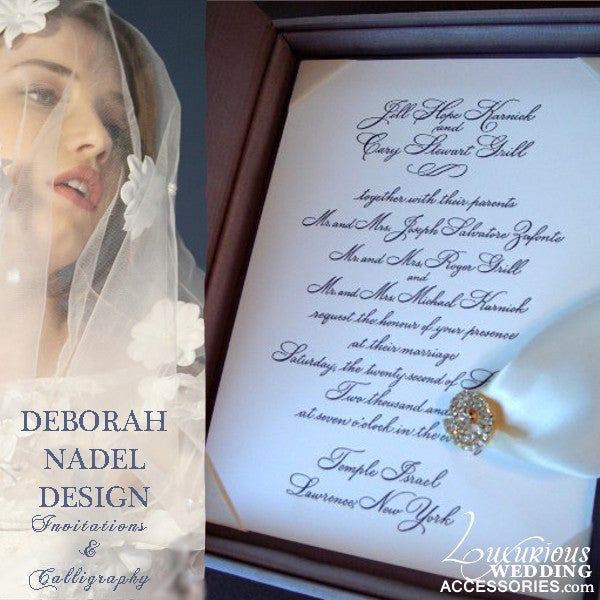 Image of Luxury Invitations Deborah Nadel Design
