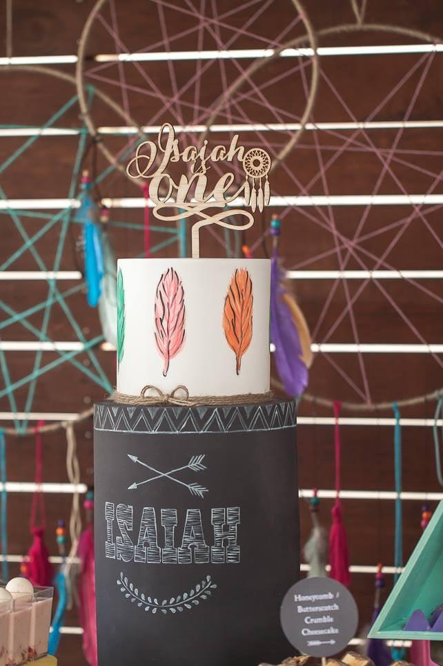 Image of Boho Dreamcatcher Cake Topper