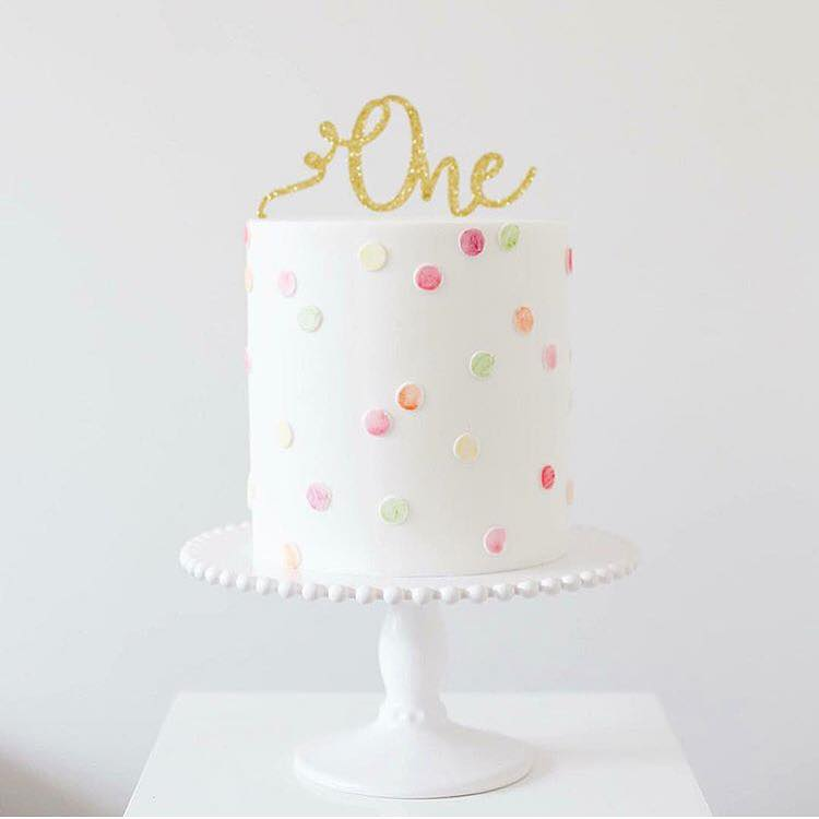 Image of Swirl One Cake Topper
