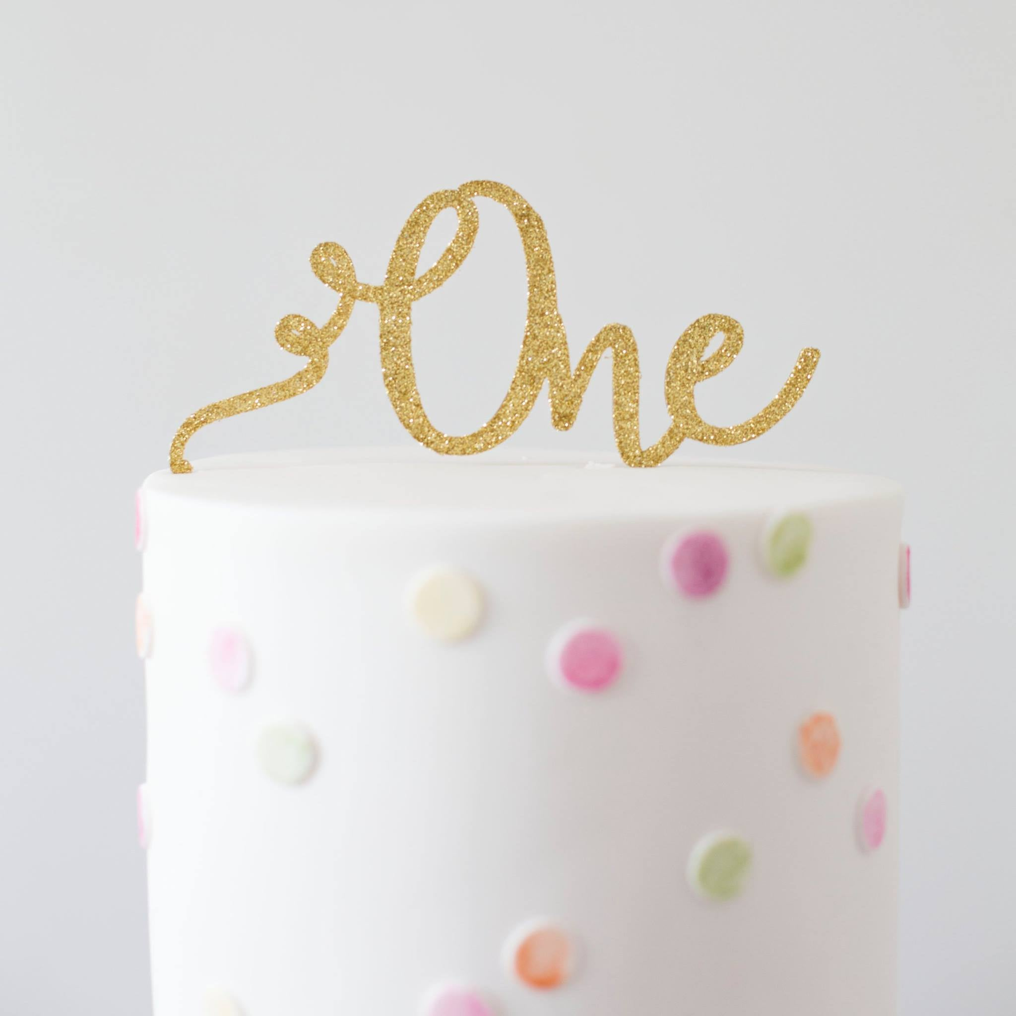 Glistening Occasions Swirl One Cake Topper