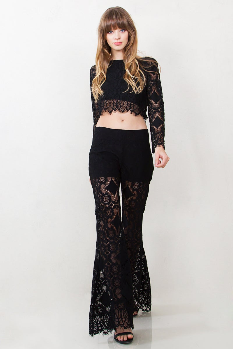Image of BAT YOUR LASHES LACE PANTS