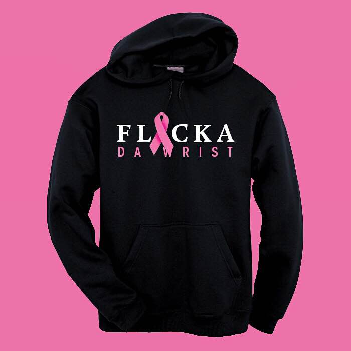 "Image of ""Flicka Da Wrist"" Breast Cancer Hoodie"