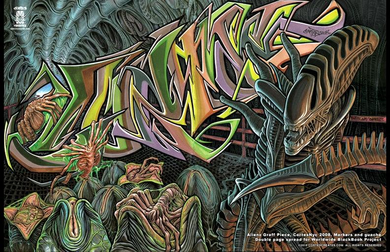 Image of Alienz Graff Piece (MiniPoster)