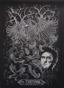 Image of H.F. THIEFAINE (2015) screenprinted poster