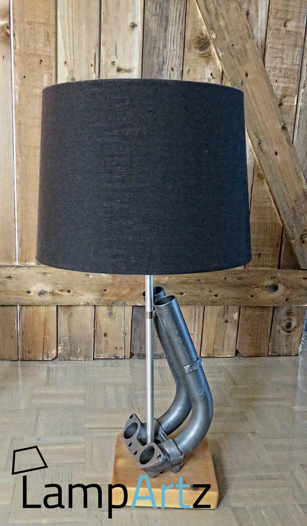 porsche 914 intake table desk lamp admission table bureau lampe lampartz. Black Bedroom Furniture Sets. Home Design Ideas
