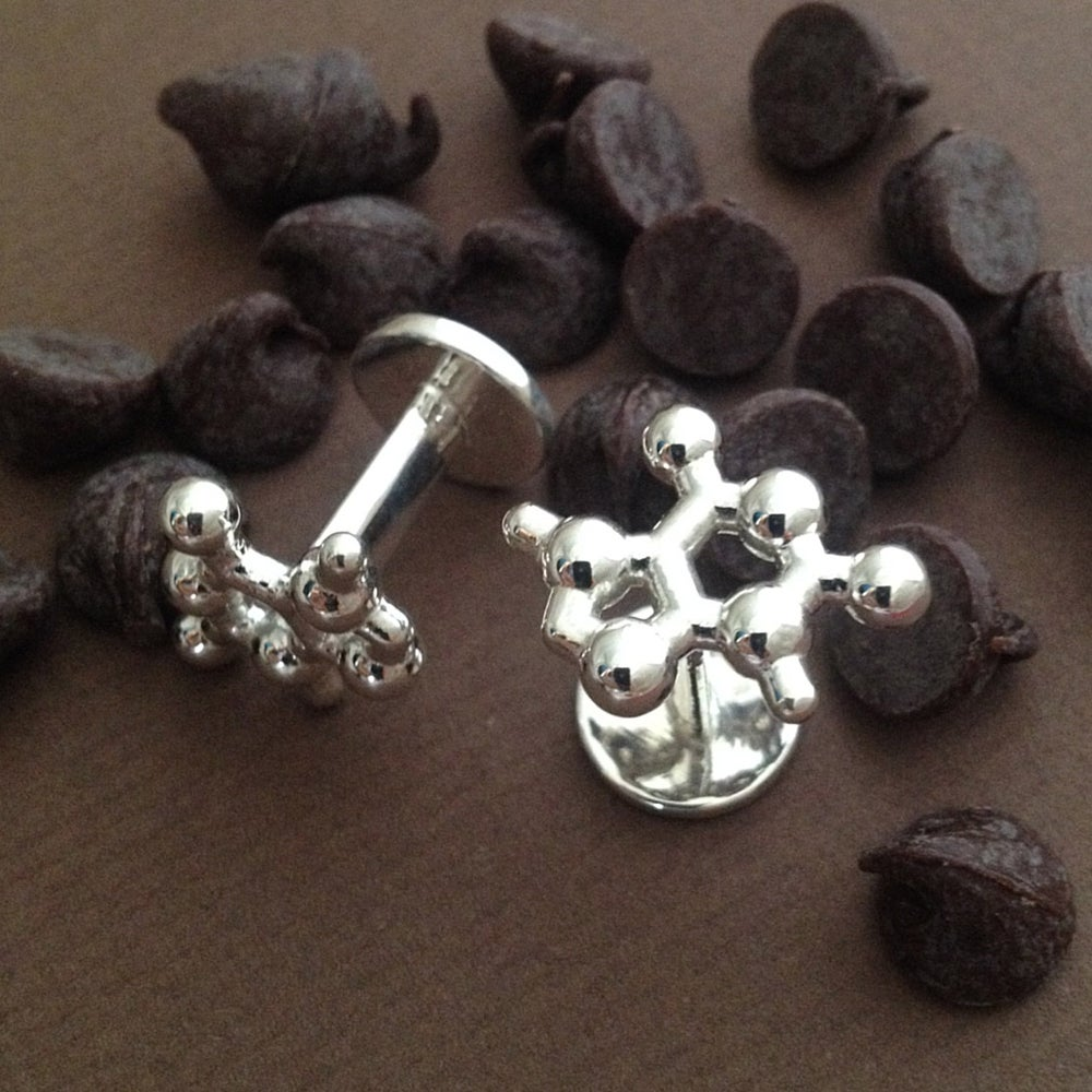 Image of theobromine cufflinks
