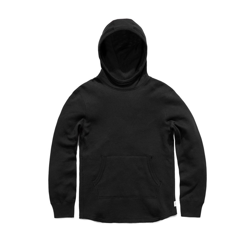 Image of Reigning Champ Mesh Fleece Pullover Hoodie - BLACK