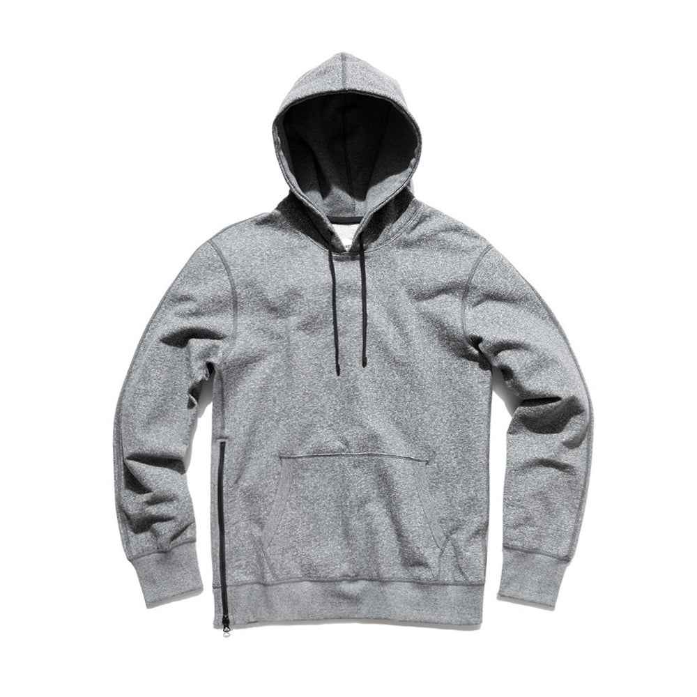 Image of Reigning Champ Heavyweight Side Zip Pullover Hoodie - ENGINEERED CHARCOAL