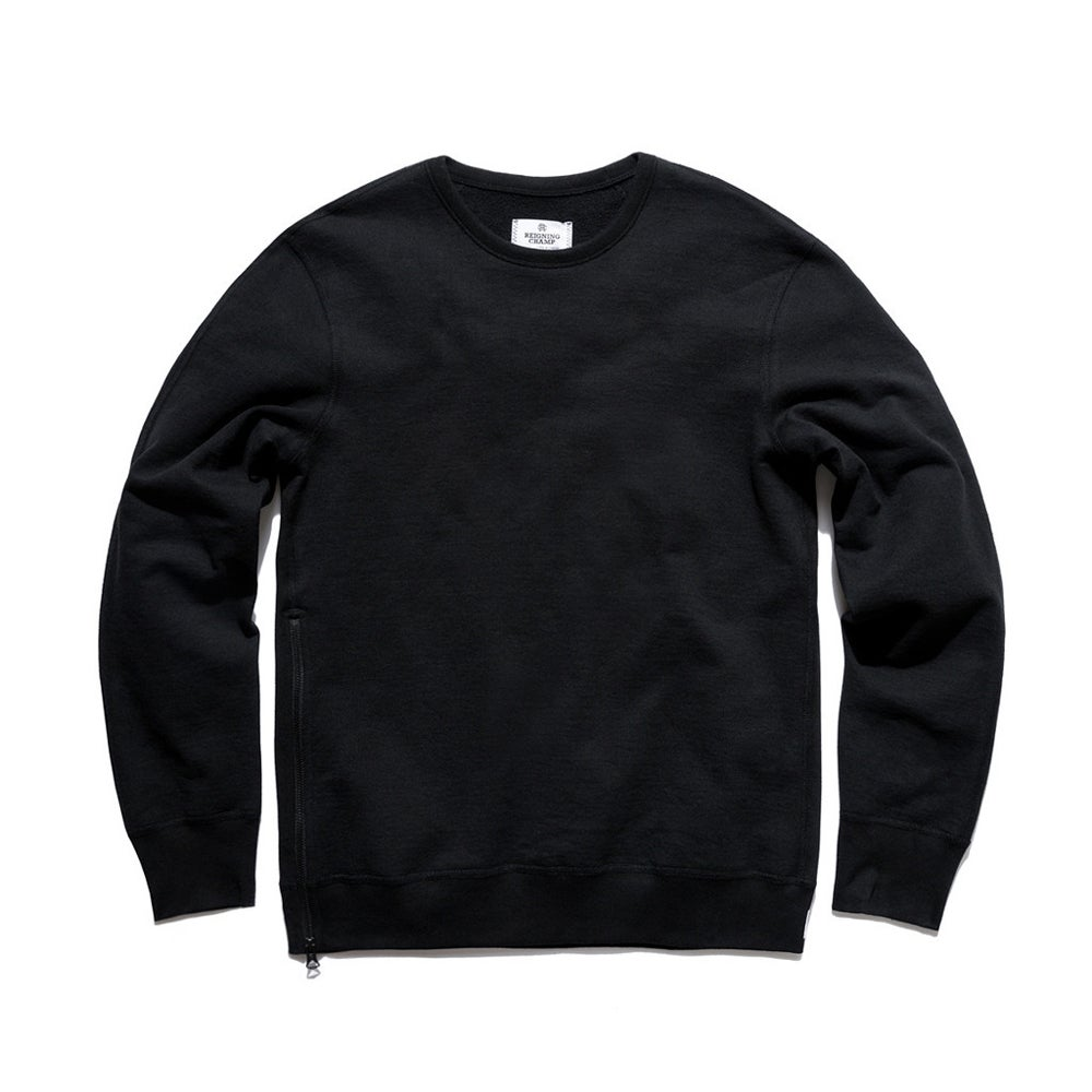 Image of Reigning Champ Heavyweight Side Zip  - BLACK