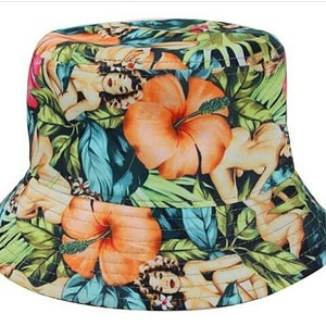 Image of Floral & lady bucket
