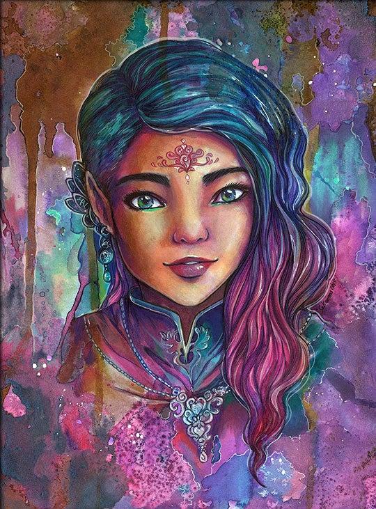 Image of Sanja Original Art Fantasy Elf