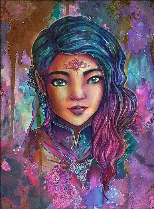 Image of Sanja Original Art Fantasy Elf
