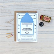 Image of Fortune Telling Letterpress Card: Thank You