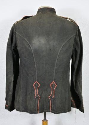 Image of 1880's FRENCH HBT BLACK LINEN FIREMAN JACKET 2 フレンチファイアーマンジャケット